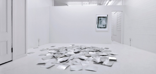 """Two Weeks/Two Works: Andrea Longacre-White"" Exhibition view. Photo courtesy Fourteen30 Contemporary"